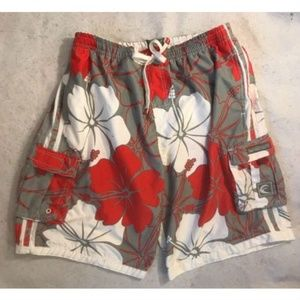 Surf Mentality Mens Floral Swim Trunk Size XXL